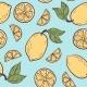 Seamless Doodle Pattern with Vintage Lemons - GraphicRiver Item for Sale