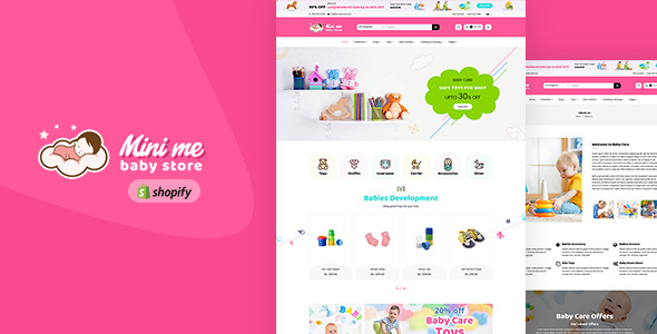 Mini Me - Baby Care Products Sectioned Shopify Theme