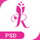 Pink Rose Unique Web Layout PSD Template - ThemeForest Item for Sale