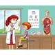 Sick Boy at Hospital - GraphicRiver Item for Sale