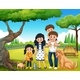 Family At The Park - GraphicRiver Item for Sale