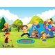 Kids Playing in Playground - GraphicRiver Item for Sale