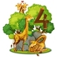 Four Giraffes in Nature - GraphicRiver Item for Sale