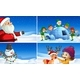 Set of Snow Christmas Scenes - GraphicRiver Item for Sale