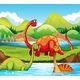 Dinosaur in Nature - GraphicRiver Item for Sale