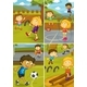 Set of Activity Kids at The Playground - GraphicRiver Item for Sale
