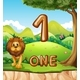 One Lion In Nature Background - GraphicRiver Item for Sale