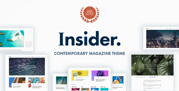 Insider – Contemporary Magazine and Blogging Theme