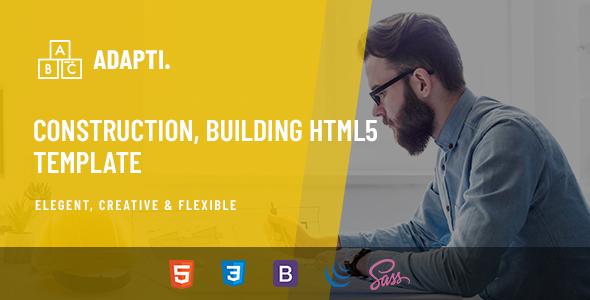 Adapti - Construction, Building HTML5 Template
