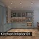 Kitchen Interior 01 - 3DOcean Item for Sale