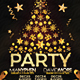 Gold Christmas Party Event Club Flyer - GraphicRiver Item for Sale