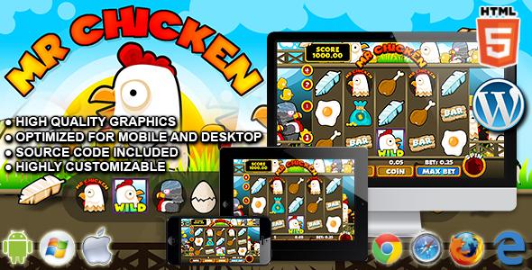 Slot Machine Mr Chicken - gra kasynowa HTML5