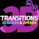 3D Transitions, 3D Maker & Opener - VideoHive Item for Sale