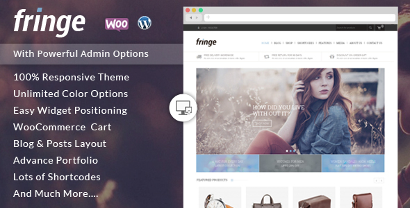 Fringe – WooCommerce Responsive Theme Free Download