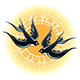 Two Flying Swallows - GraphicRiver Item for Sale