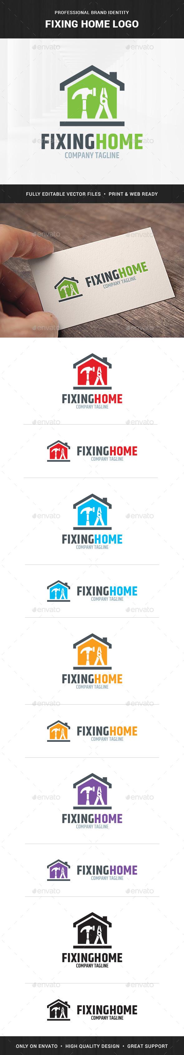 Fixing Home Logo Template
