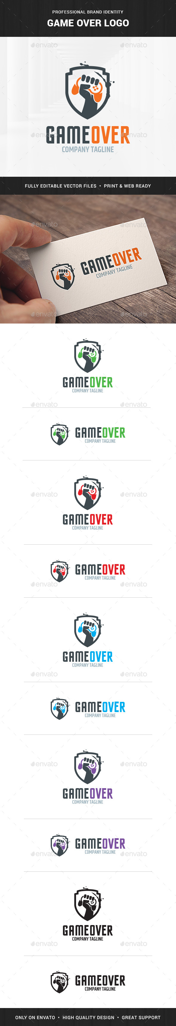 Game Over Logo Template