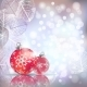 Festive Winter Background with Red Holiday Balls - GraphicRiver Item for Sale