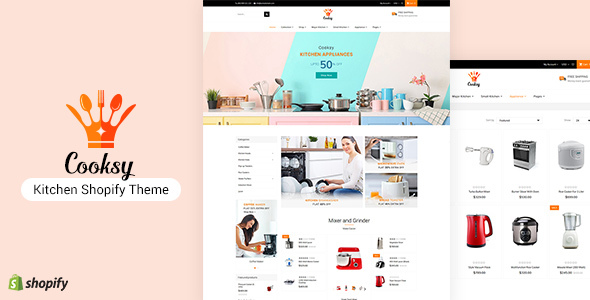 Cooksy - Kitchen Utensils Shopify Theme
