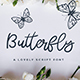 Butterfly - a Lovely Script Font - GraphicRiver Item for Sale