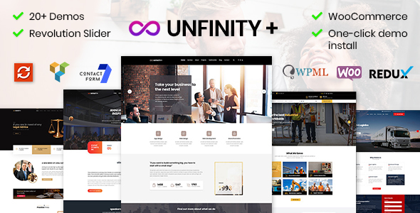 Unfinity Plus - Multipurpose One Page WordPress Theme