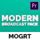 Modern Broadcast Pack | Essential Graphics | Mogrt - VideoHive Item for Sale