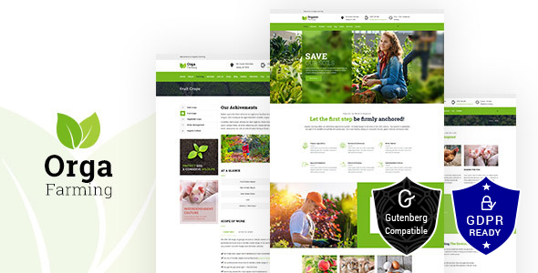 Orga - Organic Farm, Agriculture WordPress