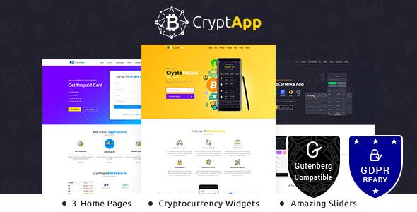 CryptApp Landing Page - App Landing Page Theme