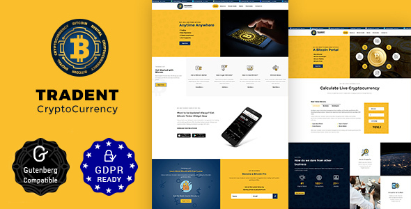 Tradent - Cryptocurrency, Bitcoin WordPress