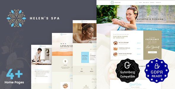 Helen Spa Wellness Theme