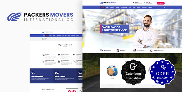 Packers & Movers | Logistics, Cargo WordPress Theme
