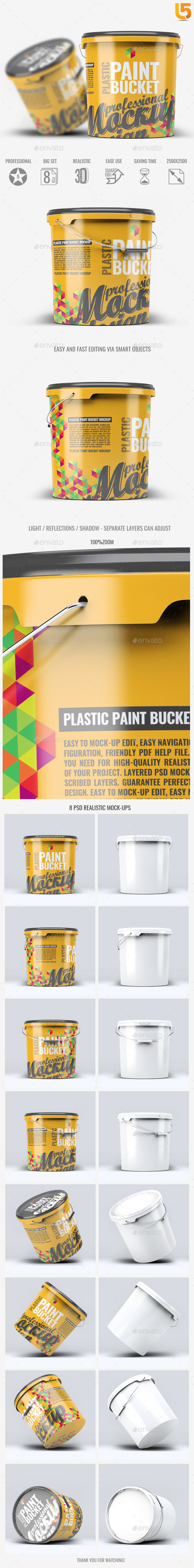 Paint Bucket Graphics Designs Templates From Graphicriver