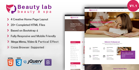 Beauty Lab | Spa Parlor HTML Template