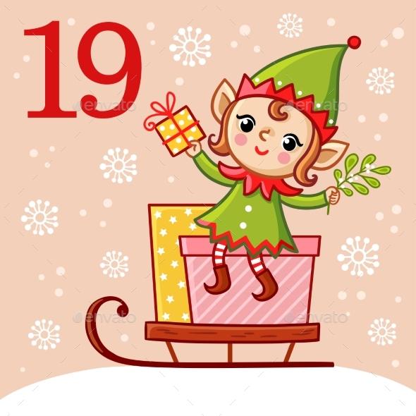 Vector Christmas Advent Calendar