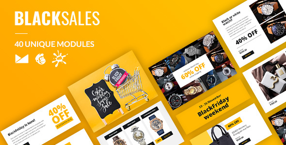 BlackSales Email-Template + Online Builder