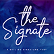 The Signate - a stylish signature font - GraphicRiver Item for Sale