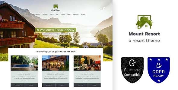Mount Hotel Resort WordPress
