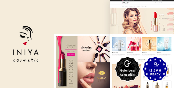 Iniya - Beauty Store, Cosmetic Shop WordPress Theme