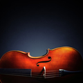 Cello on black background with copy space for music album or cd - PhotoDune Item for Sale