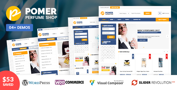 VG Pomer - Perfume Store WooCommerce WordPress Theme