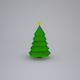 Low Poly Christmas Tree - 3DOcean Item for Sale