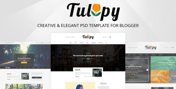 TULIPY – Creative & Elegant PSD Template for Blogger