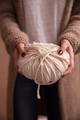 Close-up of yarn clew with knitting needles in female hands - PhotoDune Item for Sale