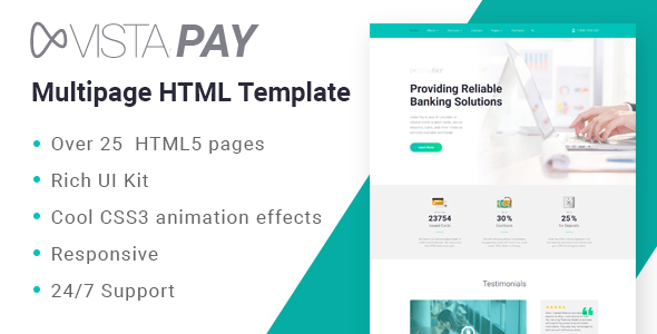 VistaPay - Bank Multipage HTML5 Template
