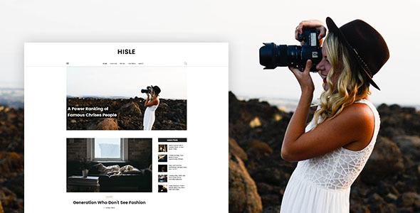 Hisle - Personal Blog PSD Template