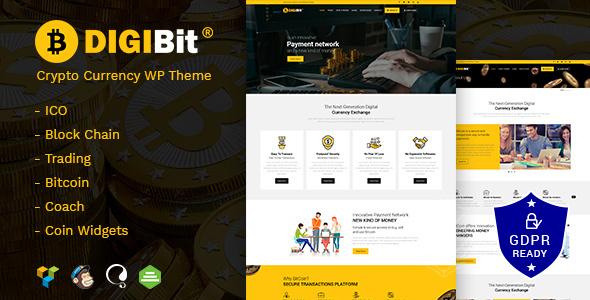 DigiBit - Cryptocurrency Trading WordPress