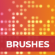 Pixels Mosaic Photoshop Brushes - GraphicRiver Item for Sale