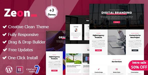 Zeon - Creative Multi-Purpose WordPress theme