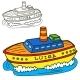 Motor Ship - GraphicRiver Item for Sale