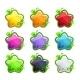 Cartoon Colorful Glossy Stars Set - GraphicRiver Item for Sale